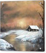 Sunset Cabin  Acrylic Print
