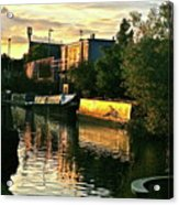 Sunset Canal Reflections Acrylic Print