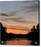 Sunset Canoe Acrylic Print by Ty Helbach