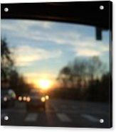 Sunset Cars Acrylic Print