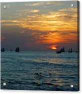 Sunset Celebration Key West Fl Acrylic Print