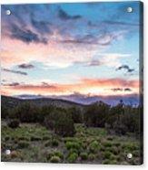 Sunset Cerillos Acrylic Print