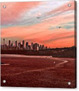 Sunset City Acrylic Print