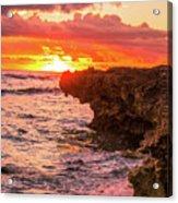 Sunset Cliff Acrylic Print