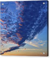 Sunset Cloud Formation Acrylic Print