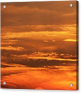 Sunset Clouds On Fire Acrylic Print