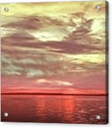 Sunset Colors On The Bay Acrylic Print