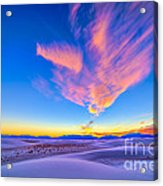 Sunset Colors Over White Sands National Acrylic Print