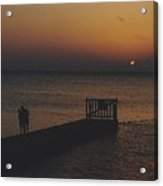Sunset Couple Acrylic Print