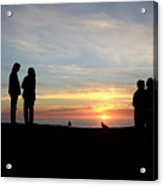 Sunset Couples Acrylic Print