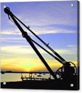Sunset Crane Acrylic Print