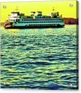 Sunset Cruise On The Ferry Acrylic Print