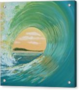 Sunset Curl Acrylic Print