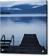 Sunset Dock At Priest Lake Acrylic Print