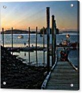 Sunset Dock Acrylic Print