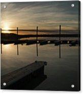 Sunset Docks Acrylic Print