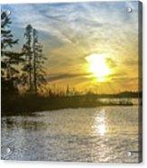 Sunset Dollarville Flooding Newberry Michigan -0243 Acrylic Print