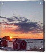 Sunset Down East Maine  Acrylic Print