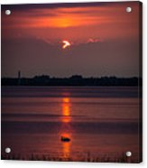 Sunset Ducks Acrylic Print