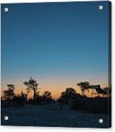 Sunset - Elephant Sands Botswana Acrylic Print