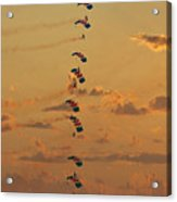 Sunset Falcons Stack Formation Acrylic Print