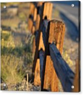 Sunset Fence Acrylic Print