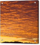 Sunset Fiery Orange Sunset Art Prints Sky Clouds Giclee Baslee Troutman Acrylic Print