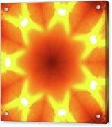 Sunset Firewheel Kaleidoscope Acrylic Print