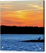 Sunset Fisherman  Acrylic Print