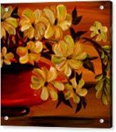 Sunset Floral Acrylic Print