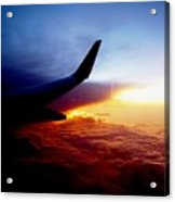 Sunset Flying Acrylic Print