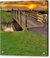 Sunset Foot Bridge Acrylic Print by Dale Stillman