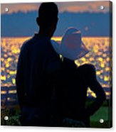 Sunset For Two Acrylic Print
