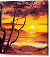Sunset From A Carmel Cypress Tree  Acrylic Print