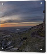 Sunset From Commedagh Acrylic Print