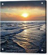 Sunset From Newport Beach Pier Acrylic Print