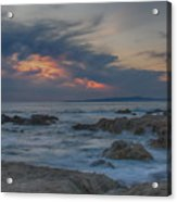 Sunset From Pacific Grove Acrylic Print