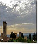 Sunset From San Gimignano Acrylic Print
