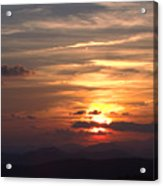 Sunset From The Blue Ridge Parkway Ll Acrylic Print