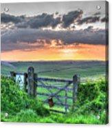 Sunset Gate Acrylic Print