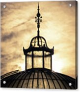 Sunset Glasshouse In Winter Acrylic Print
