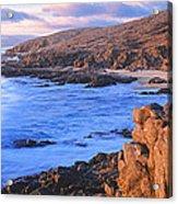 Sunset Glow Along Pacific Coast Acrylic Print