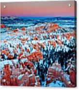 Sunset Glow Of A Hoodoo Nation Acrylic Print