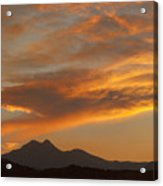Sunset Glow Over The Twin Peaks Acrylic Print
