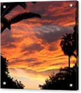 Sunset God's Fingers In Clouds  Acrylic Print