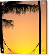 Sunset Hammock Acrylic Print