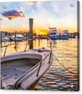Sunset Harbor Acrylic Print