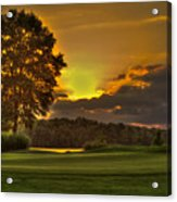 Sunset Hole In One The Landing Acrylic Print