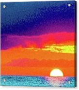 Sunset In Abstract  Acrylic Print