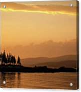 Sunset In Acadia  Acrylic Print
